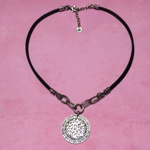 SILPADA  sterling necklace w leather